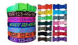 Personalized Customized Embroidered Dog Name Adjustable Nylon Collar For Dogs $10.99