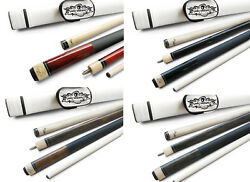 Champion ST14 Black Brown Grey Wine Pool Cue Stick with 2 shafts White Case $64.86
