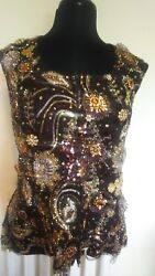 Custom Western Show Vest Horse Show 1x Chocolate Gold  Copper Sequin