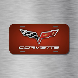 Chevy chevrolet Corvette Stingray Vehicle License Plate Front Auto Tag Lush Red $16.49