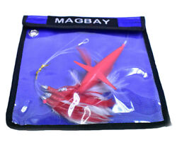 Daisy Chain Teaser with Bird Red Feather Rigged w Bag Magbay Lures $23.95