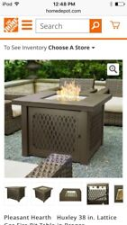 Gas Fire Pit Table Bronze Lattice Huxley Home Patio Outdoor Heater Fireplace