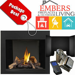 NAPOLEON HDX40NT DIRECT VENTING KIT GAS FIREPLACE REFELECTIVE PANELS SURROUND