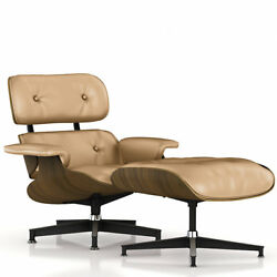 HERMAN MILLER - Oiled Walnut  Tanned Leather Eames Lounge Chair and Ottoman