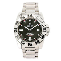 Tudor Hydronaut II 20040 Mens Automatic Watch Black Dial Stainless Steel 40mm
