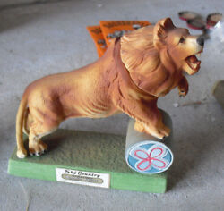 Vintage Empty Ski Country Mini Decanter Circus Lion 5quot; Tall $26.00