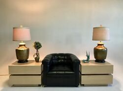 Vintage Antique Frederick Cooper Bronze Brass French Table Desk Lamps Bouillotte