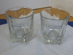 Hornitos Cocktail On the Rocks Glasses Set Of 2 Barware Advertising $22.99