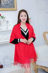 New Autumn and Winter Women Cashmere Shawls Solid Fashion Classic Scarves Wraps