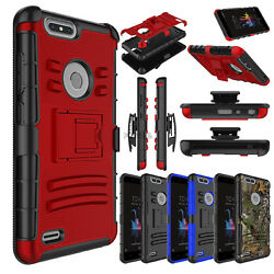 For ZTE Blade Z Max  Z982 Case Hybrid Kickstand Armor Rugged Protective Cover