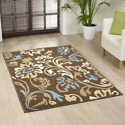CLEARANCE RUG NEW BEST QUALITY MODERN ALPHA BROWN BLUE LARGE RUG SALE CHEAP COST