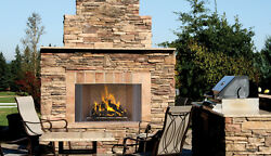 Astria's Oracle Traditional Mosaic Masonry Outdoor Wood-Burning Fireplace 42