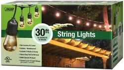 30 ft String Light Set Case of 4 Incandescent Bulbs Outdoor Cafe Patio Lighting