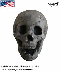 Myard Fireproof Human Fire Pit Skull Gas Log for NG LP Wood Fireplace Firepit...