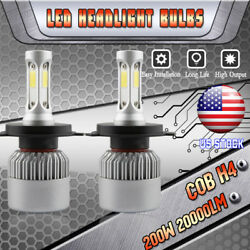 200W LED Headlight Bulbs for Toyota Sienna 1998-2003 HighLow Beam 9003 H4 HB2