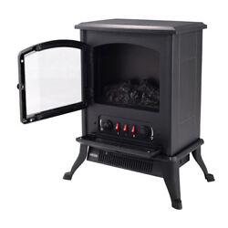 1000W Home Electric Fireplace Electric Heater with Ultra Realistic Flame Classic