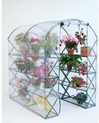 Greenhouse Kit Mini Cottage Plant Shelter Walk-In Garden w Shelves 7x5x6 Clear