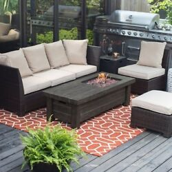 Propane Fire Pit Table Fireplace Outdoor Gas Top Patio Backyard Cooking BBQ