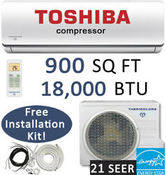 18000 BTU Ductless Mini Split Air Conditioner Heat Pump Ceiling Cassette Floor $1505.86
