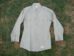 ORIGINAL US ARMY KHAKI WOOL REGULATION OFFICERS SHIRT 15 x 31 PRIVATE PURCHASE