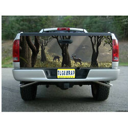 T75 DEER HUNTING BUCK Tailgate Wrap Vinyl Graphic Decal Sticker LAMINATED