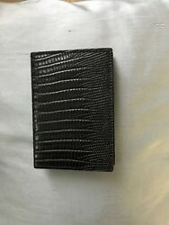 Italian Leather Card Case Black Saks Fifth Avenue for men or women