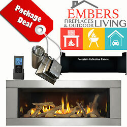 NAPOLEON LHD45 LINEAR GAS FIREPLACE STAINLESS STEEL VENT KIT PANELS DRIFTWOOD