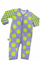 Little Miss Matched Green and Purple Sleeper BABY 3-6M Retired - Unique Miss