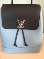 NWT Louis Vuitton lockme Blue Black backpack with dust bag and receipt perfect