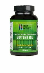 Green Pasture X-Factor Gold Concentrated Butter Oil 120 Capsules Non-Gelatin
