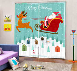 Snow In The Cabin 3D Blockout Photo Curtain Print Curtains Fabric Kids Window