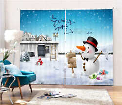 Gift From Warm Cabin 3D Blockout Photo Curtain Print Curtains Fabric Kids Window