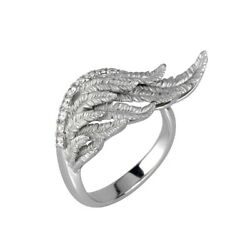 Magerit Jewelry Collection Harmony Small Ring 18K White Gold And Diamond - NEW
