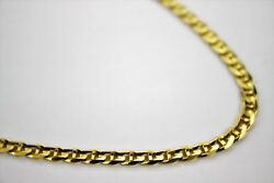 Authentic 14K Solid Yellow Gold Concave Mariner Chain Necklace 4.6mm20