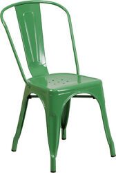BULK DEAL 25 GREEN METAL INOUTDOOR RESTAURANT CHAIR FURNITURE HOLD UP TO 350LB