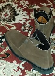 Gucci Men's Choco Brown Suede leather Boots SZ 11D or 12US. $700 Made In ITALY