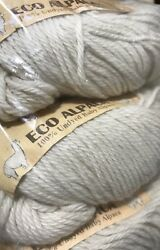 Lot 4 Skeins Cascade Yarns Eco Alpaca Yarn 100% Undyed Baby Alpaca #1510
