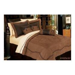 Western Comforter Set Super Queen Barbwire Bedding Gift Rustic Cabin Lodge NEW