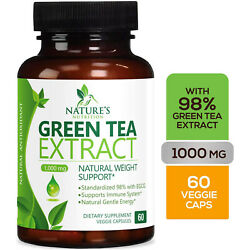 Green Tea Fat Burner 1000mg EGCG Extract Natural Weight Loss Supplement Capsules $14.82