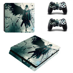 PS4 SLIM Skin Sticker Decal Cover 2 Controllers Anime NARUTO UCHIHA 03