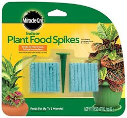 Miracle Gro Indoor Plant Food 48 Spikes Fertilizer Spikes 2.2 Ounce $7.95