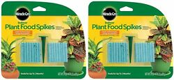 Miracle Gro Indoor Potted Houseplant Plant Food Fertilizer Spikes 2 Pack $11.95