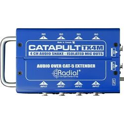 Radial Catapult TX4 Cat 5 Analog Snake Transmitter with 4 XLR-F Inputs NEW 2DAY!