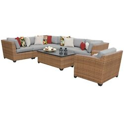 Outdoor Home Bayou Outdoor Patio Wicker Sectional and Armchair Set (8-piece Set)
