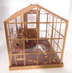 Dollhouse Greenhouse with a melted