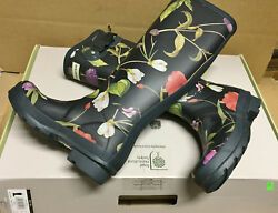 Hunter Limited Royal Horticultural Society Rubber Rain Garden Boots New wbox