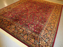 Superb rug Sarouk by Karastan wool carpet beautiful gently used 8'8''x10'6''