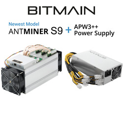 Antminer S9 13.5 THs Bitcoin Miner w AntMiner APW3++ PSU On Hand Ships Now