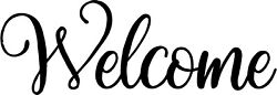 WELCOME Door window wall Sticker Decal Self Adhesive Vinyl pintrest wood craft