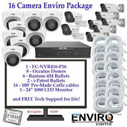 Enviro Cams 16CH NVR Security Camera Weatherproof Indoor Outdoor IP System $7899.00